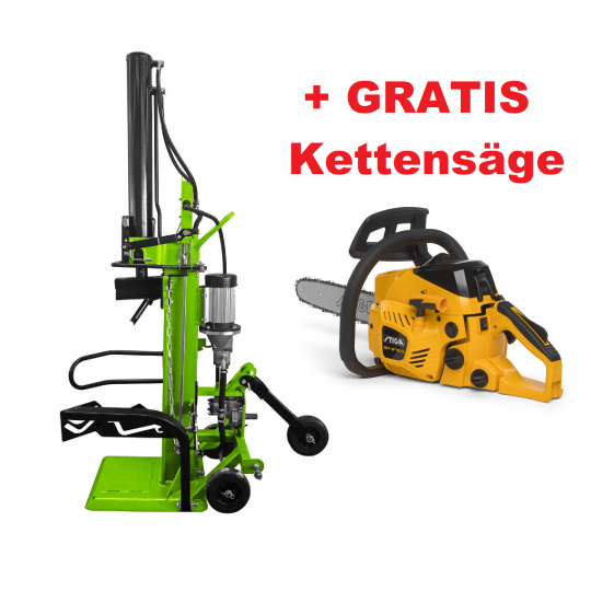 Holzspalter Zipper ZI-HS30EZ + Gratis Stiga Kettensäge