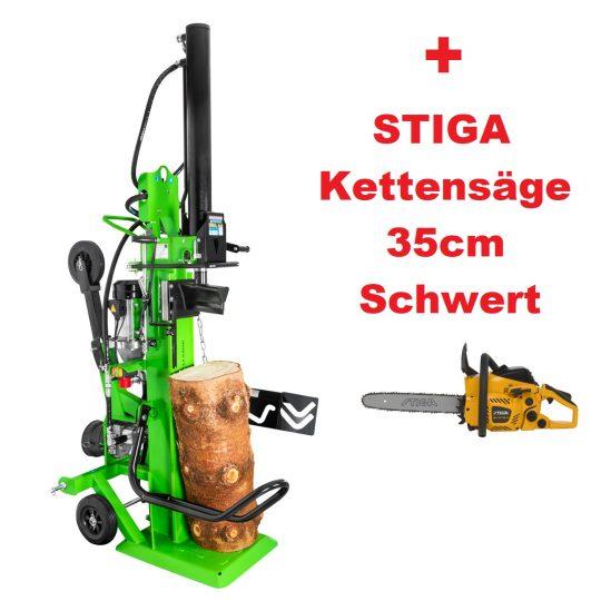 Holzspalter Zipper ZI-HS22EZ_Gratis_Stiga_Kettensäge